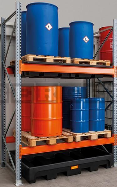 Gefahrstoff - Palettenregal 18/405 für Fasslagerung